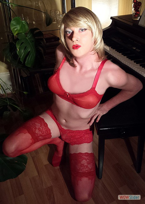 RACY RED LINGERIE